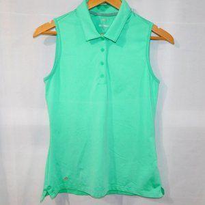 Womens S Adidas Golf Green Sleeveless Polo Shirt
